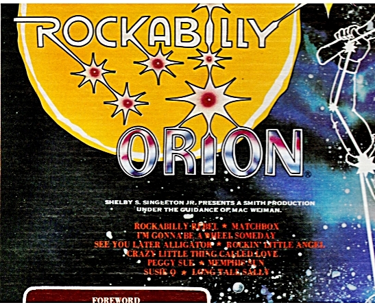 Rockabilly Orion album cover with the list of songs