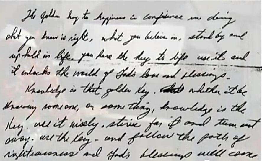 Elvis handwriting inspiring excerpt from letter