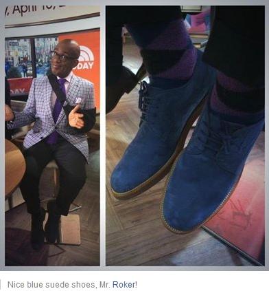 Al Rokers Blue Suede shoes