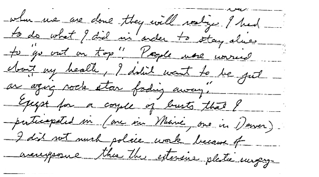 Jesse's letter for the book extensive plastic surgery