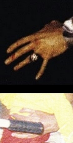 Elvis' left hand with Jesse's