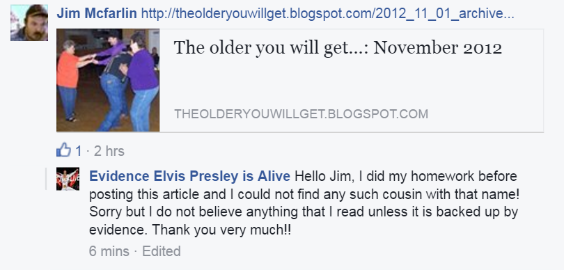 -98 Evidence Elvis Presley is Alive's response to Mike
