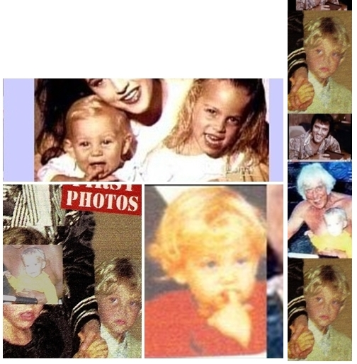 Collage of Jesse Benjamin and Lisa front of tabloid