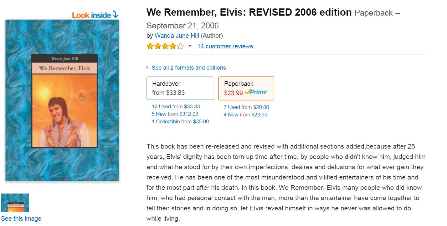 We Remember Elvis REVISED 2006 edition Wanda June Hill 9781419658099 Amazon.com Books