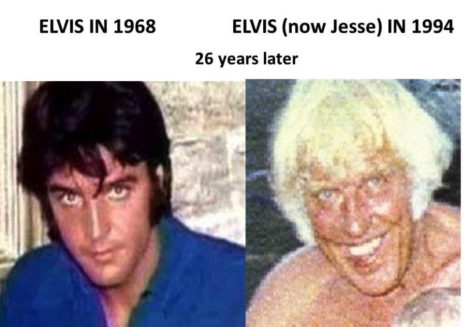 Elvis Jesse comparison from Sabrina