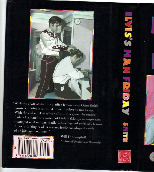Back Cover of Gene Smith's book