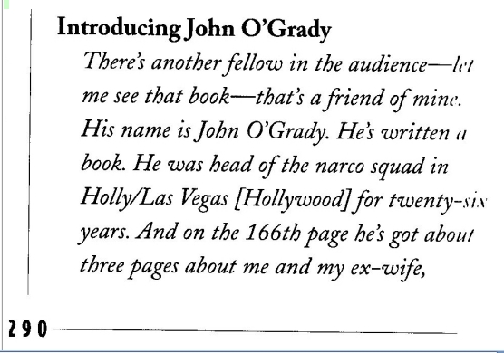 Elvis Word for Word about John O'Grady