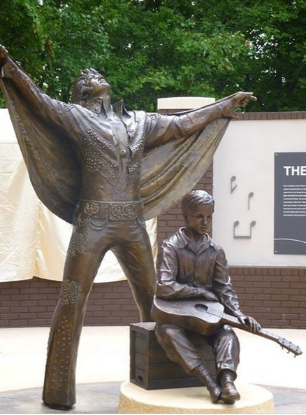 New statues in Tupelo in August, 2015