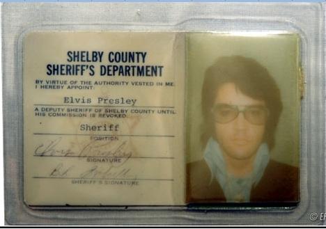 Elvis Shelby County photo ID Sherriff's