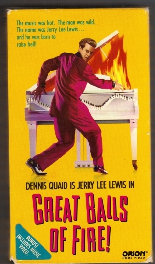 Great Balls of Fire Front VHS cover