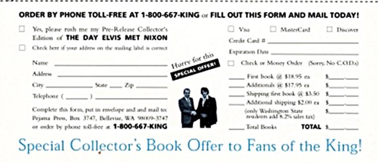 Bud Krogh's book order form