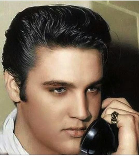 Elvis on the phone