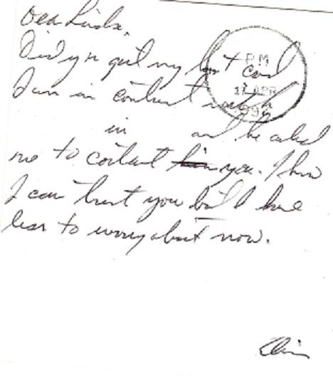 Jesse's second postcard in April,1992 z