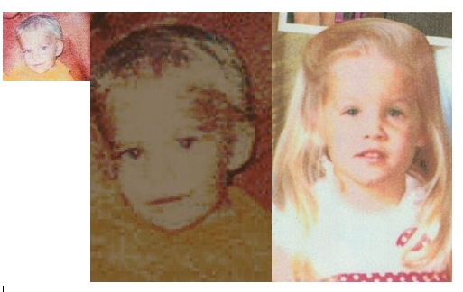 Benjamin and Lisa at age 2 collage