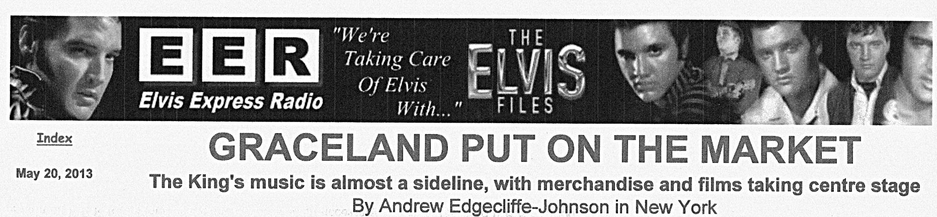 EER headline Graceland Put On The Market