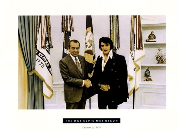Pres. Nixon and Elvis in Oval Office