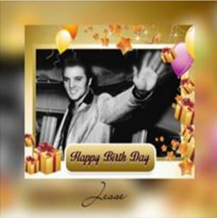 Birthday greeting with Elvis