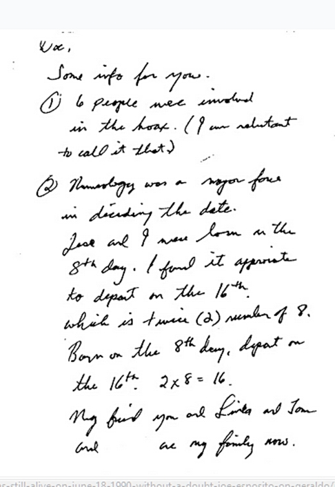 Jesse's letter about Joe for the book page 1