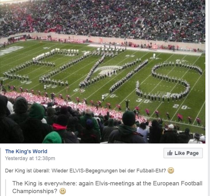 Elvis italy football field