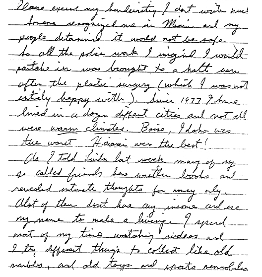 Jesse's letter for the book about places lived and so-called friends
