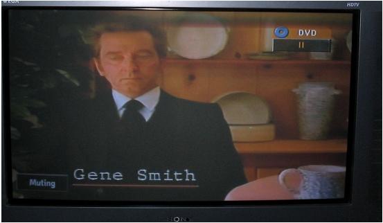 Gene Smith in film from TV screen