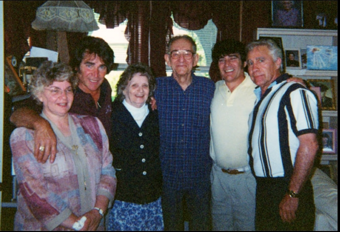 Jerry Presley and family with his father around the 1990's