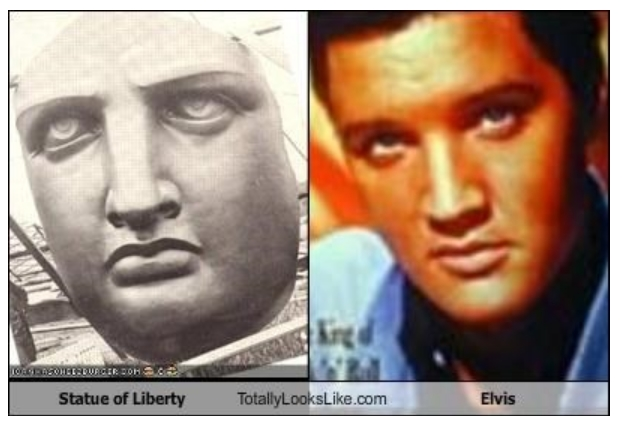 Statue of Liberty totally looks like Elvis
