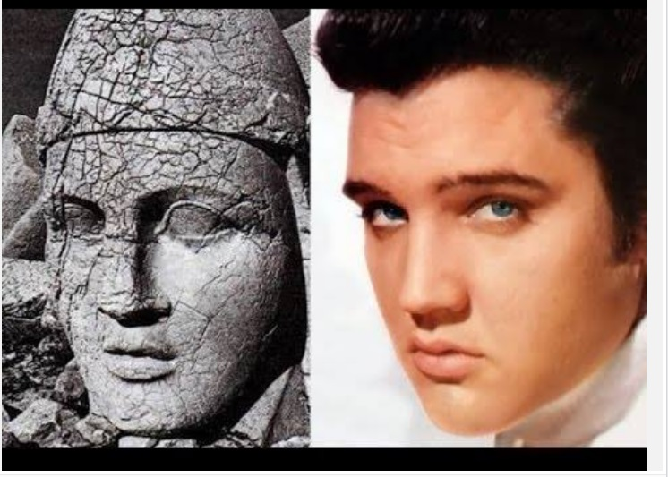 Ancient King looks like Elvis from Facebook