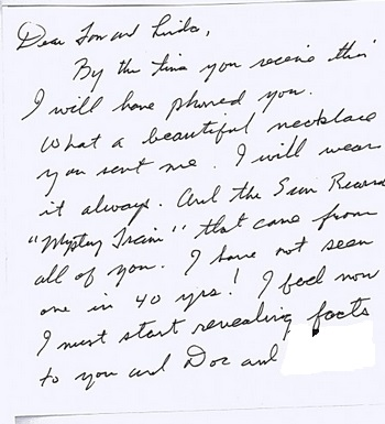 Jesse's letter about book fictional or not