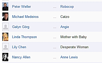 Linda Thompson in credits for Robocop 2