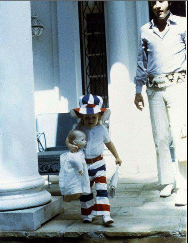 Elvis and Lisa for 4th of July