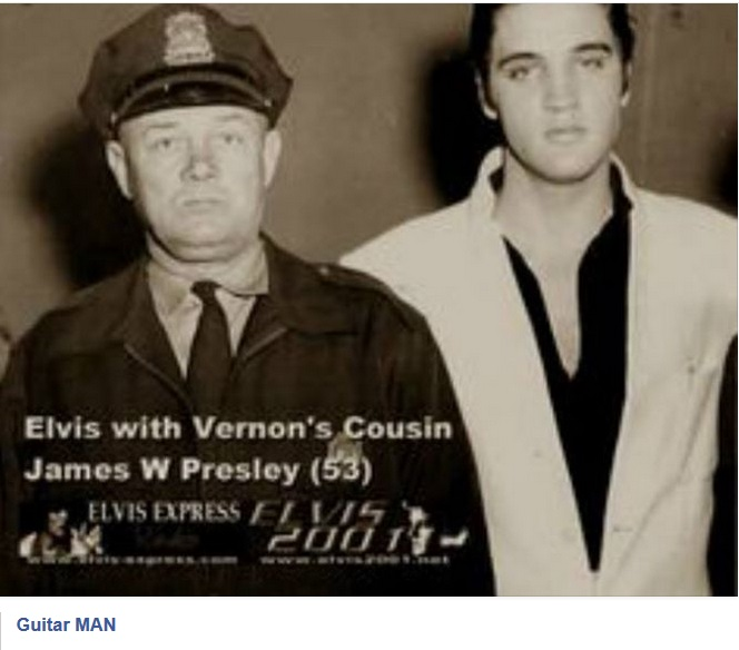 Elvis with Vernon's cousin police officer