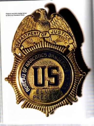 Elvis' Federal DEA Badge