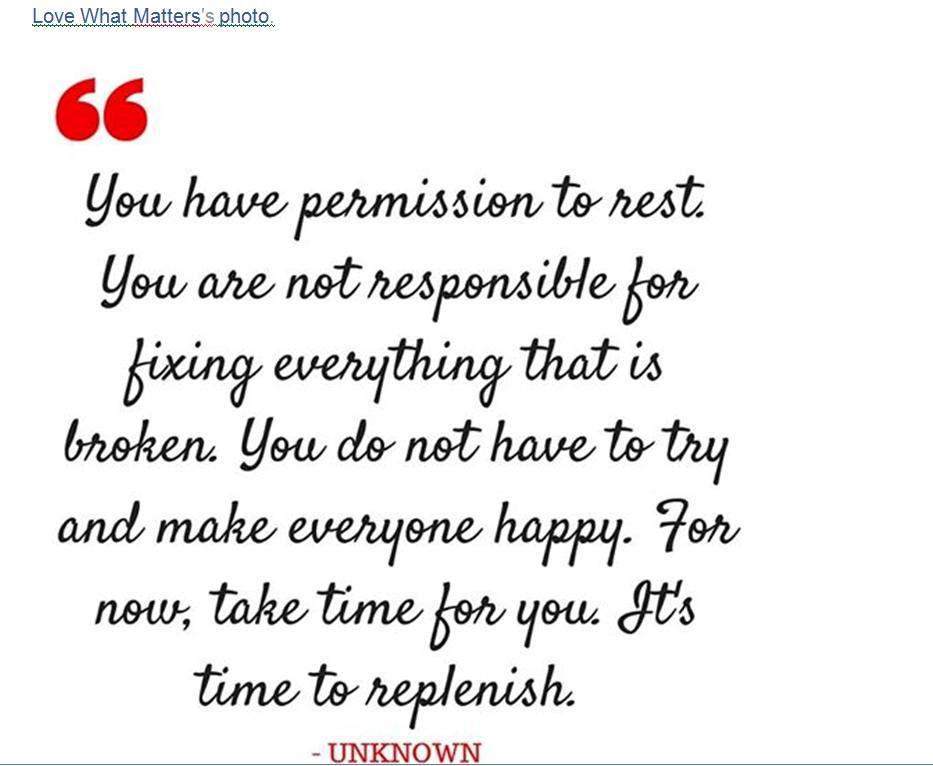 Take time for you inspirational