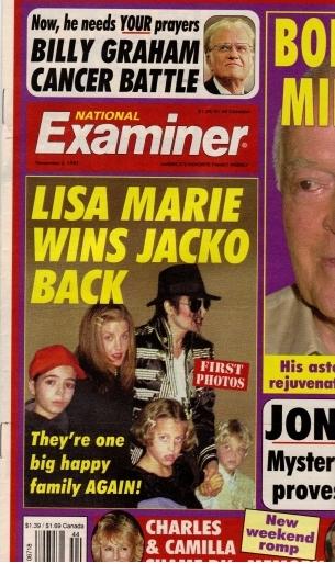 Benjamin front of National Examiner Nov. 1997
