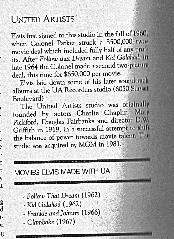 Elvis and United Artists