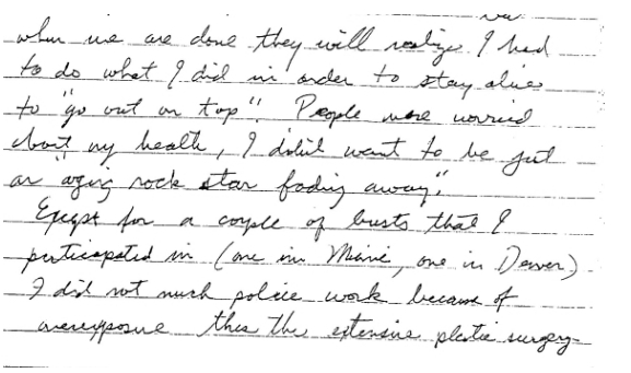 Jesse letter about police work to Hinton 2nd