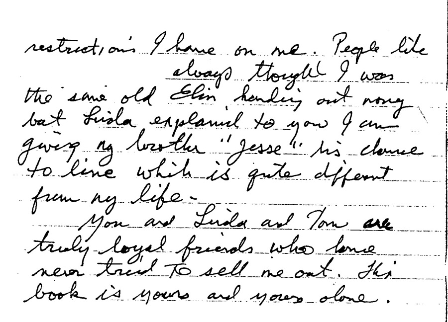 Jesse letter about us, book, and being Jesse