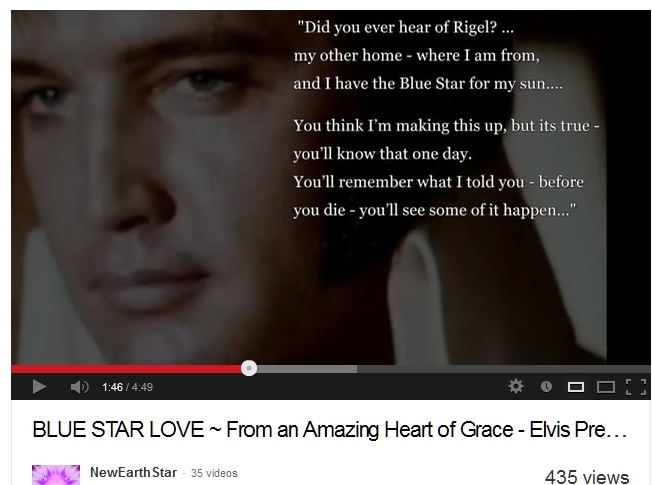 Elvis's statement about Rigel in the Orion Constellaltion