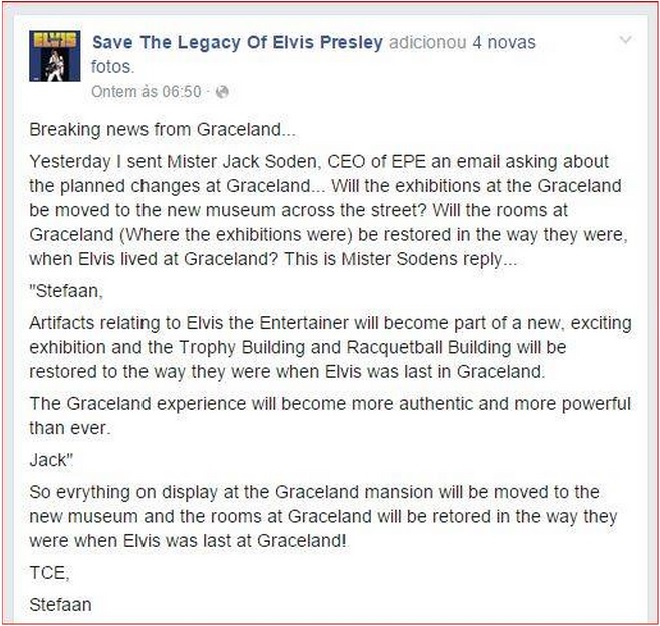 Graceland response about changes