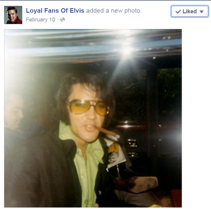 Elvis with cigarillo