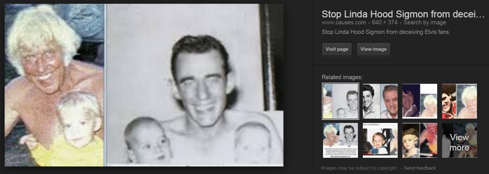 linda sigmond hood s debunked elvis photos Google Search 2