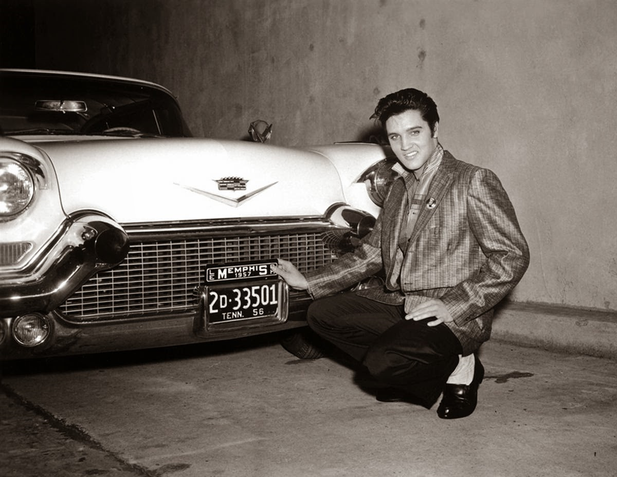 Elvis' Cadillac license plate in 1956-1957