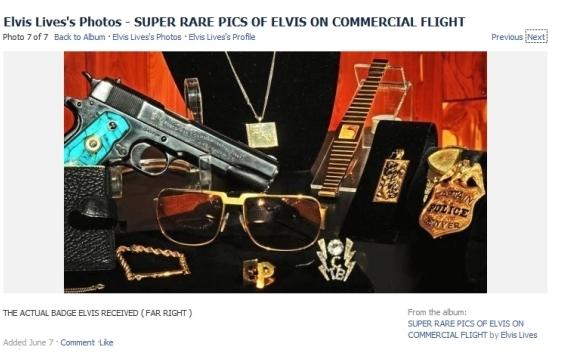 Elvis badge and gun collection...Denver badge