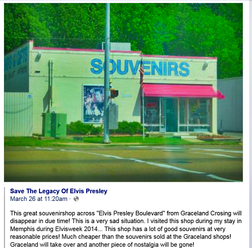 Souvenirs shop closing
