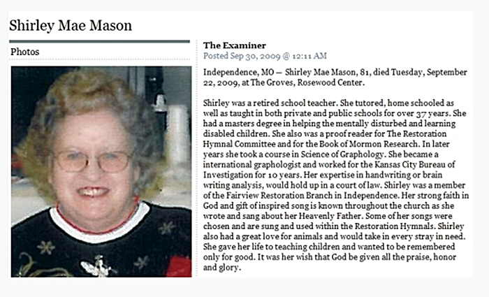 Shirley Mason Obituary