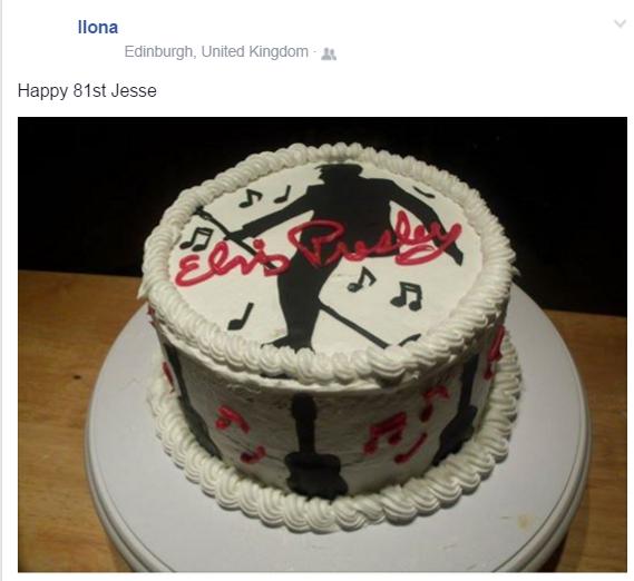Ilona's birthday greeting cake for Jesse Jan, 8 1016